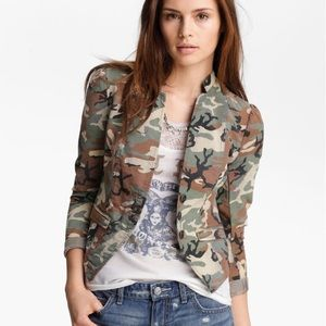 Free People Camo Blazer